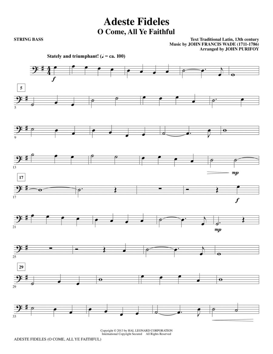 Adeste Fideles - String Bass
