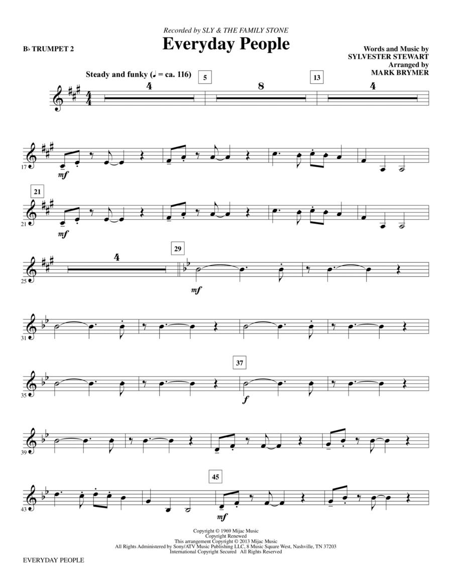 Everyday People - Bb Trumpet 2