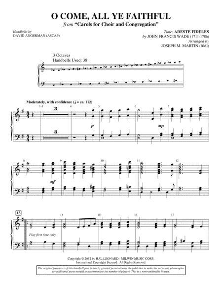 Carols for Choir and Congregation - Handbells