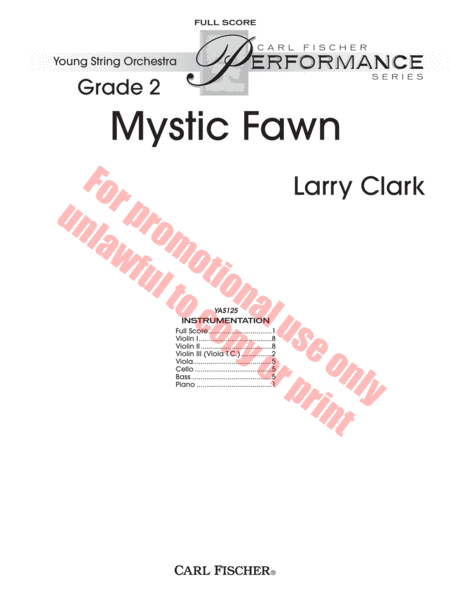 Mystic Fawn, score and parts