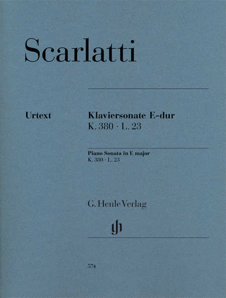 Piano Sonata in E Major, K. 380, L. 23