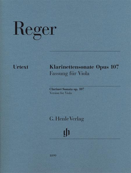 Max Reger - Clarinet Sonata, Op. 107