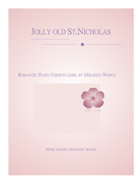 Jolly Old St. Nicholas - Romantic Piano Music