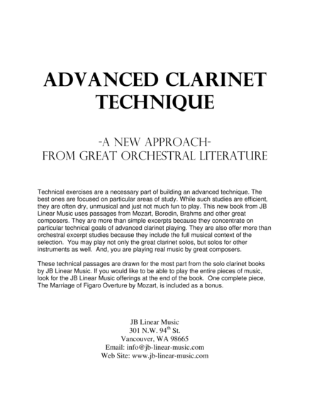 Advanced Clarinet Technique