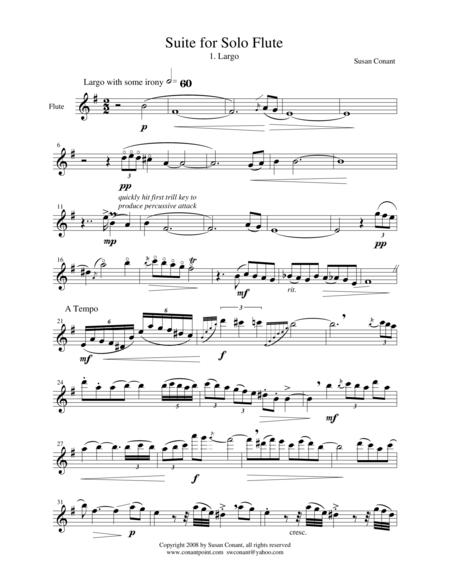 Suite for Solo Flute 1. Largo