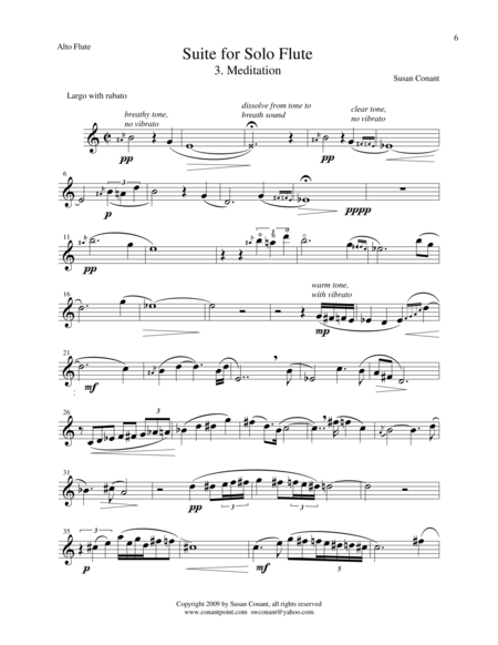 Suite for Solo Flute 3. Meditation