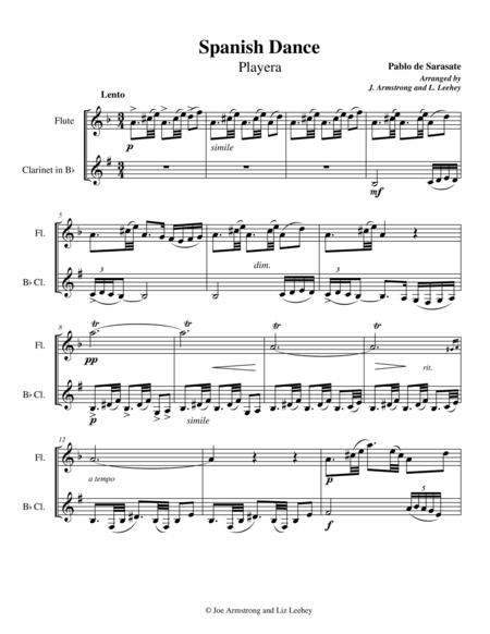 Playera from Spanish Dances Op. 23