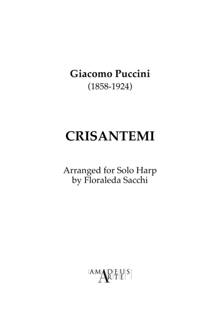 Crisantemi for Piano or Harp