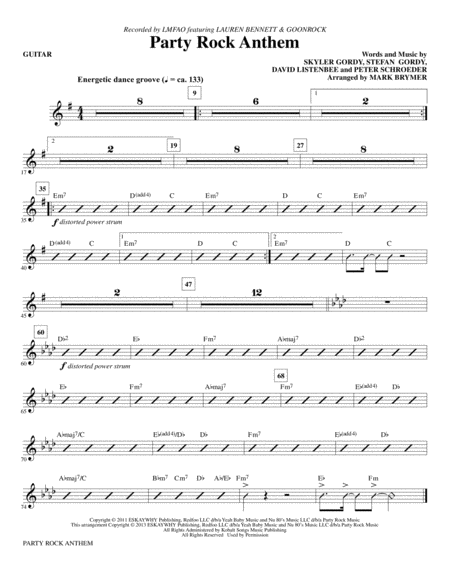 Party Rock Anthem - Guitar