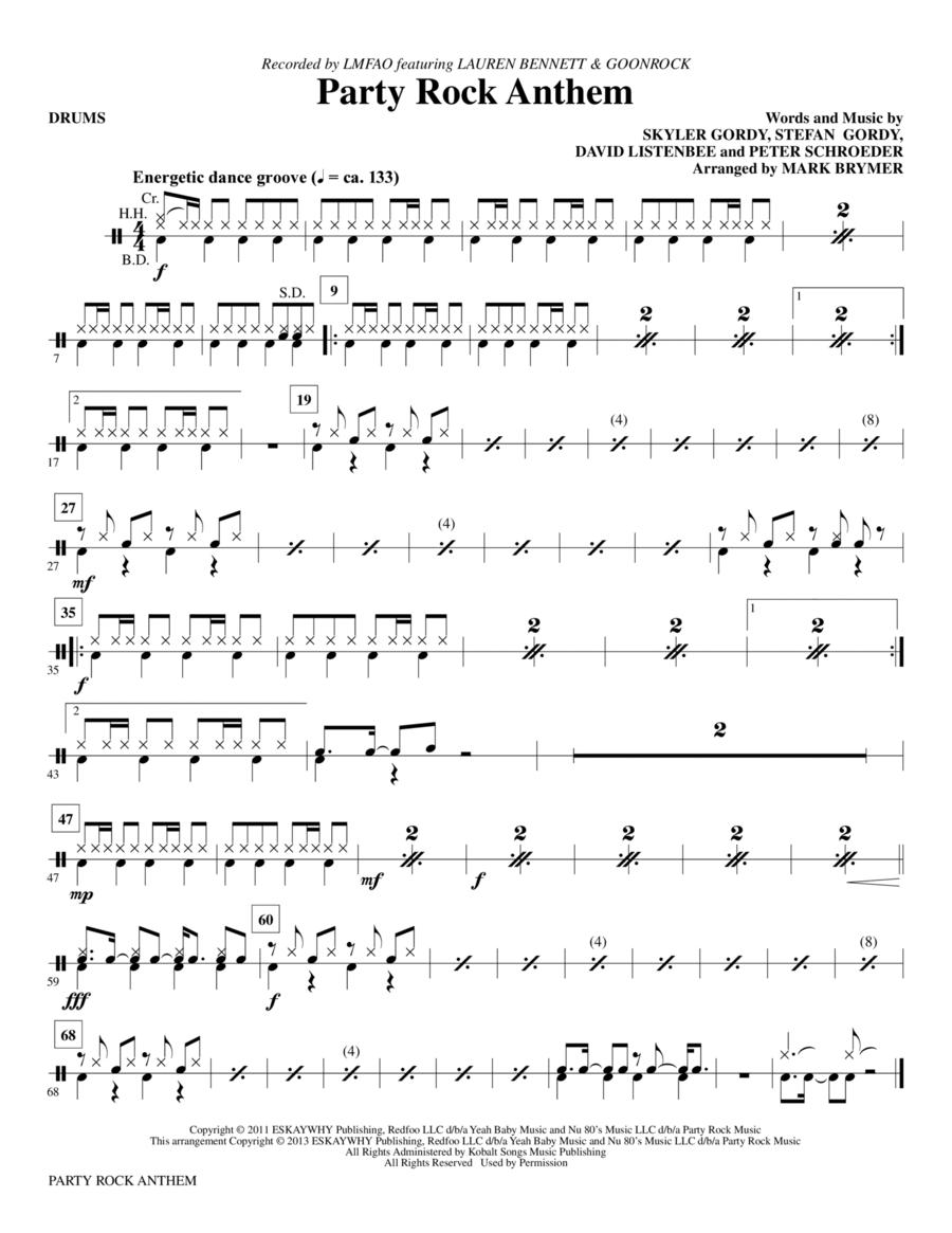 Party Rock Anthem - Drums