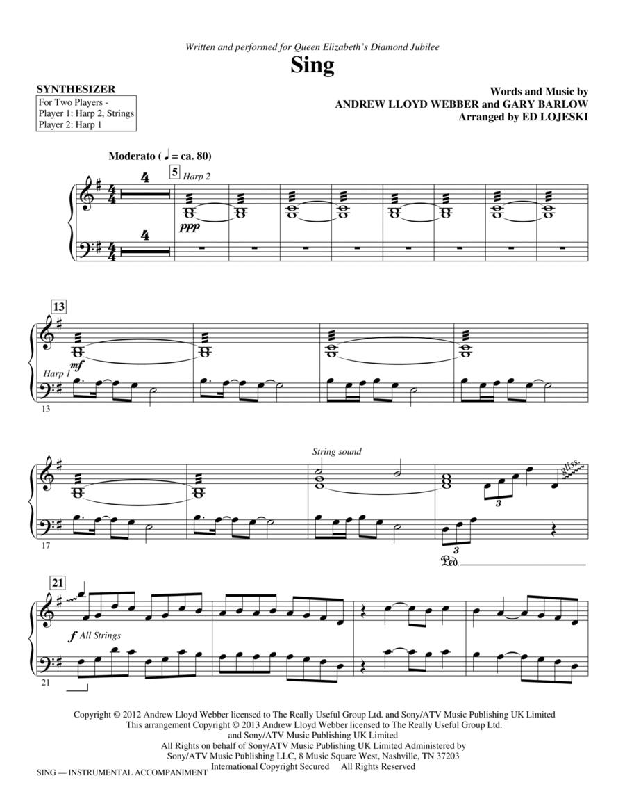 Sing (Queen Elizabeth Diamond Jubilee) - Synthesizer