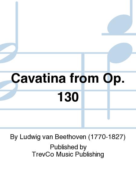 Cavatina from Op. 130