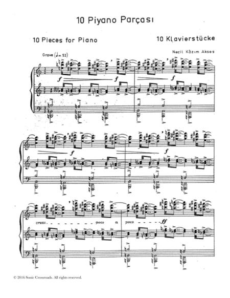 Ten Pieces for Piano