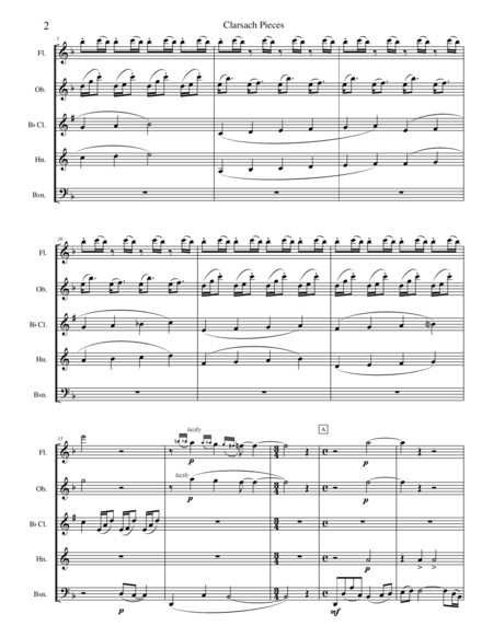 Charsach Pieces for Woodwind Quintet