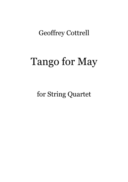 Tango for May
