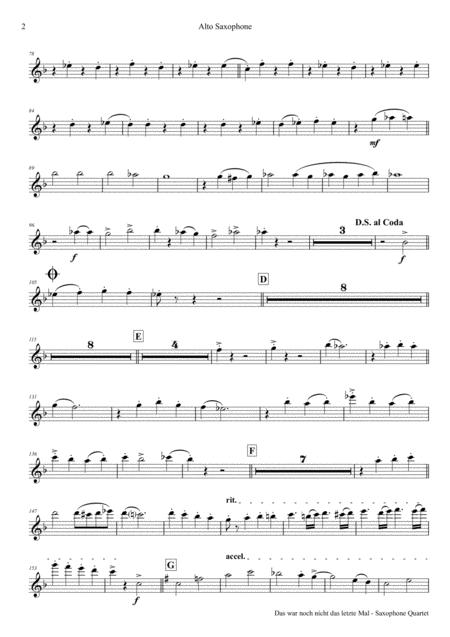 Das war noch nicht das letzte Mal - Polka - Oktoberfest - Saxophone Quartet