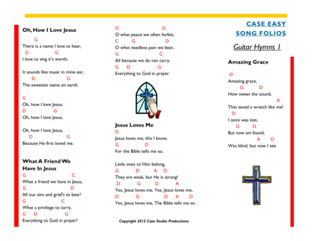 Guitar Hymns 1 - Case Easy Song Folios