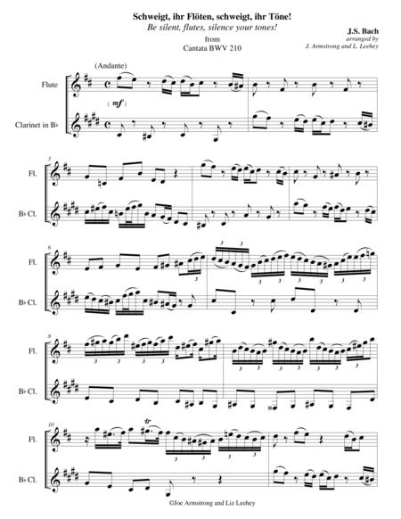 Schweigt, ihr Floten, schweigt, ihr Tone! (Be silent, flutes, silence your tones!) from Cantata BWV 210