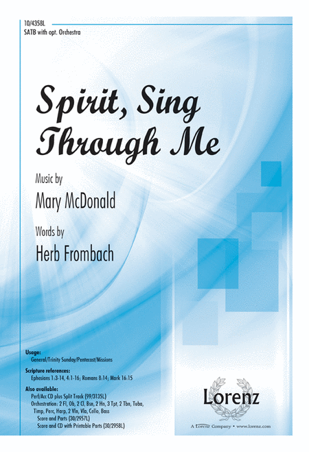 Spirit, Sing Through Me
