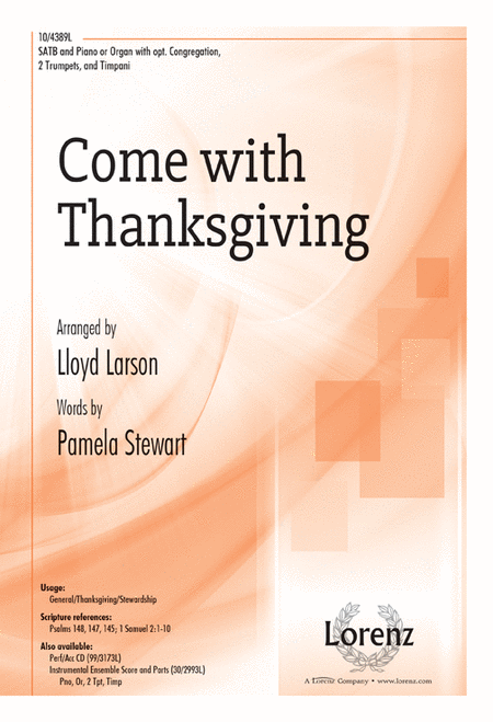 Come with Thanksgiving