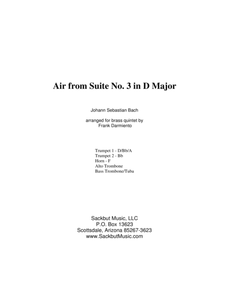 Air on a G String (Air from Suite No. 3 in D Major)