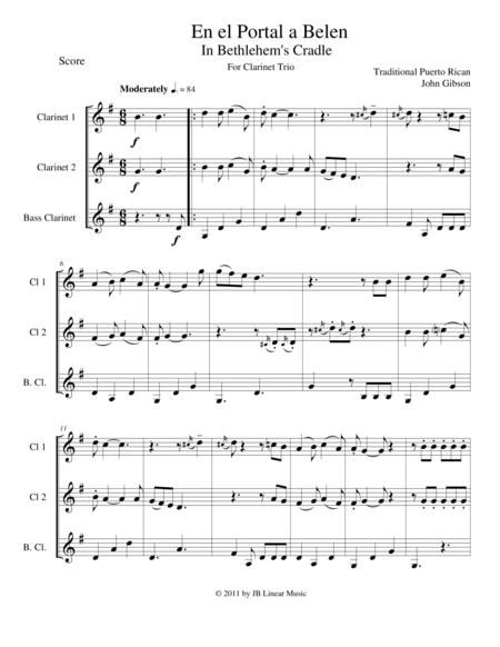 In Bethlemen's Cradle for Clarinet Trio