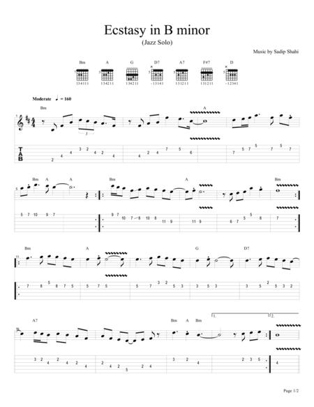 Solo Jazz-Rock in B minor