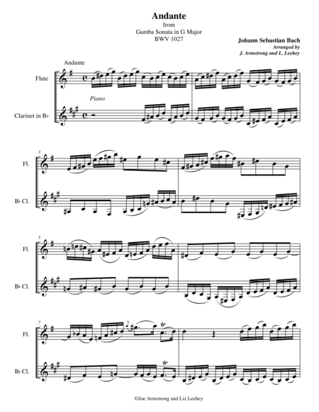 Andante from Gamba Sonata in G Major BWV 1027