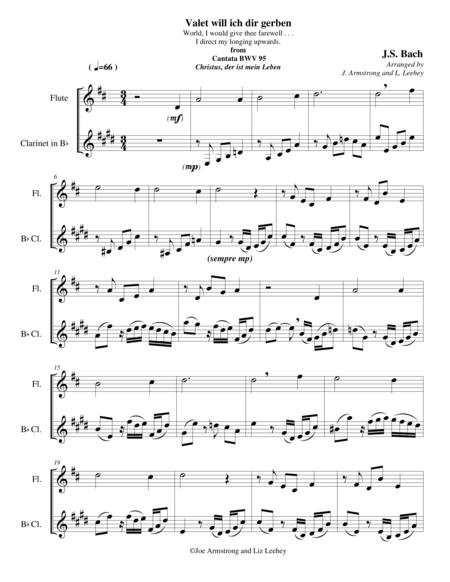 Valet will ich dir gerben from Cantata Christus, der ist mein Leben BWV 95