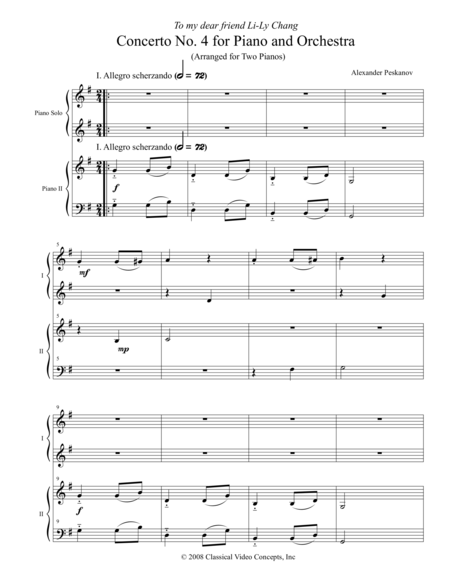 Concerto No. 4 for Piano and Orchestra