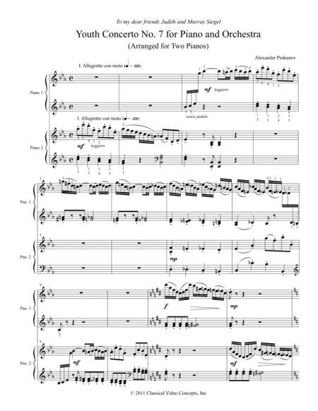 Concerto No. 7 (Anniversary Concerto) for Piano and Orchestra
