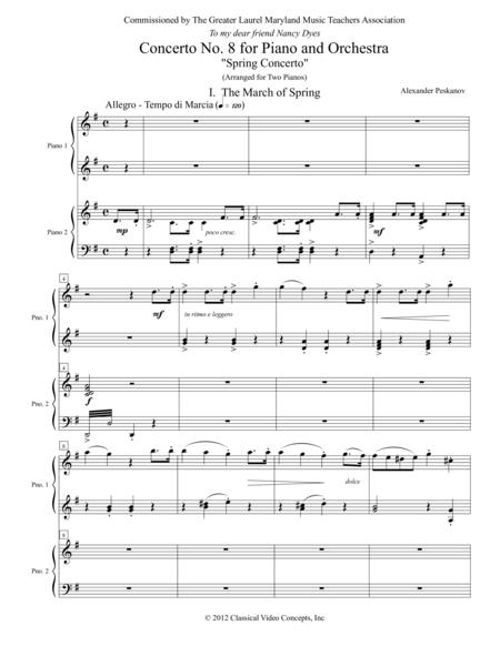 Concerto No. 8 (Spring Concerto) for Piano and Orchestra