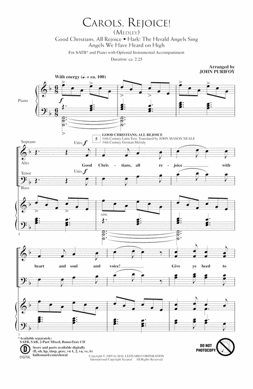 Carols, Rejoice (Medley)