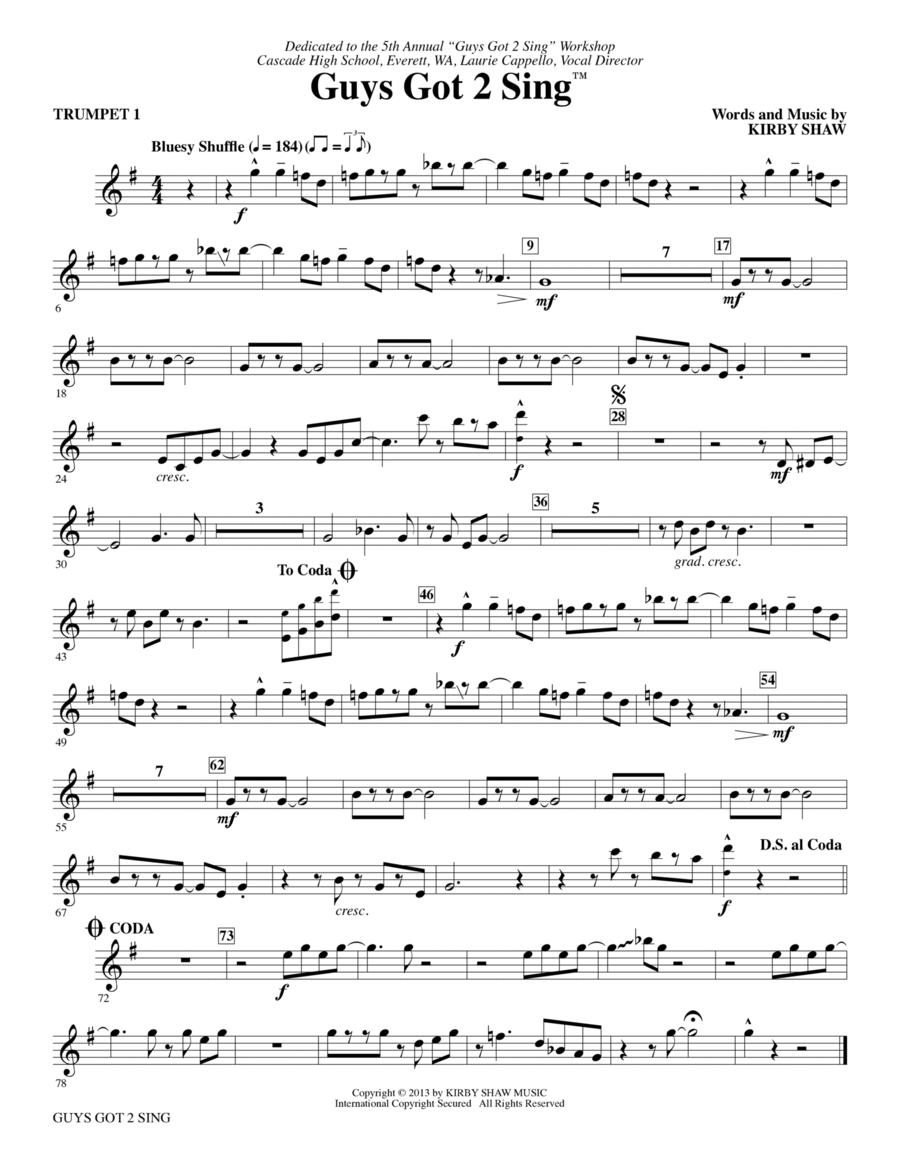 Guys Got 2 Sing - Bb Trumpet 1