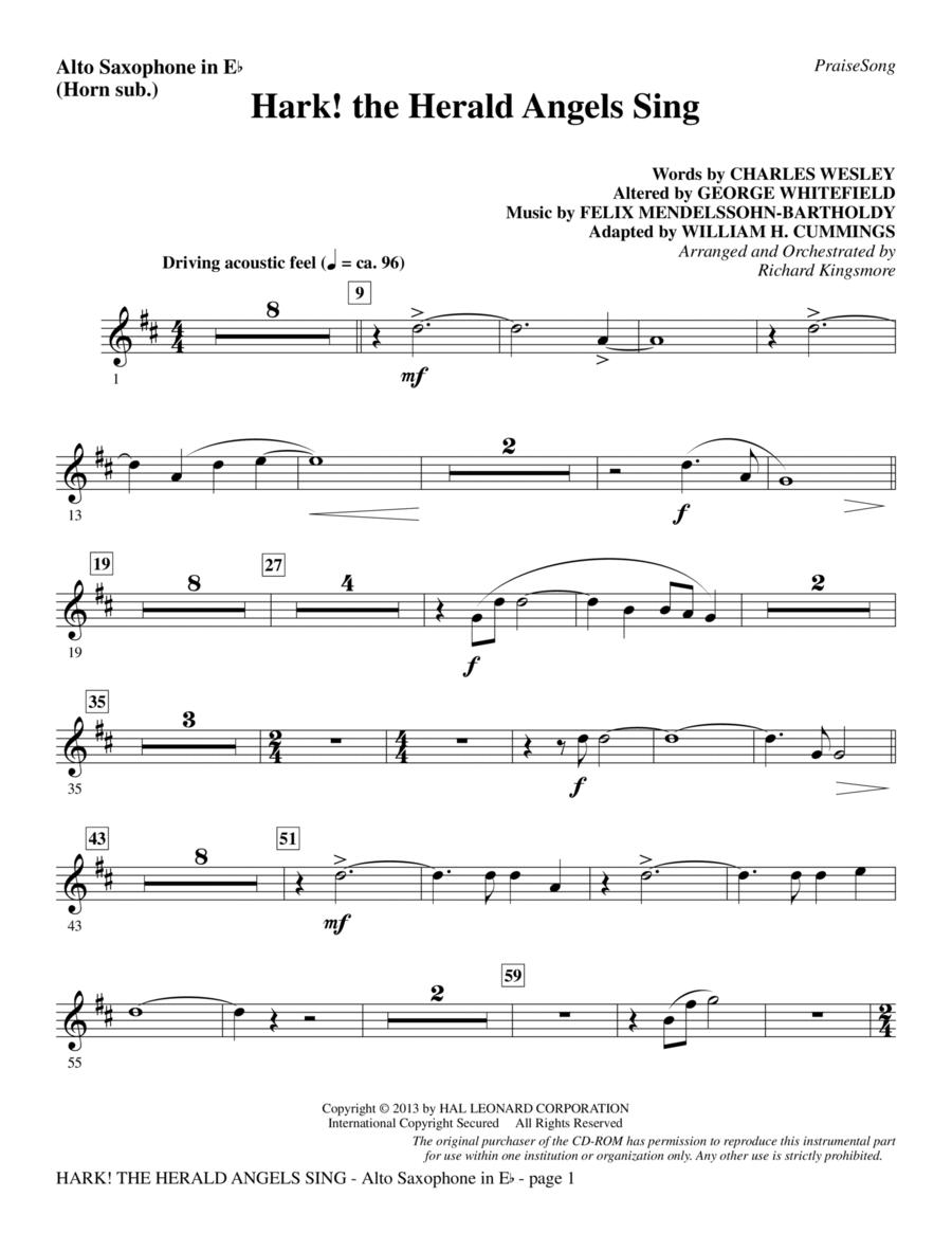 Hark! The Herald Angels Sing - Alto Sax (sub. Horn)