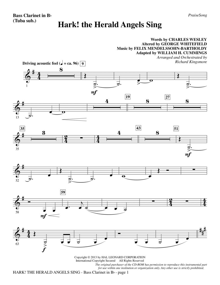 Hark! The Herald Angels Sing - Bass Clarinet (sub. Tuba)