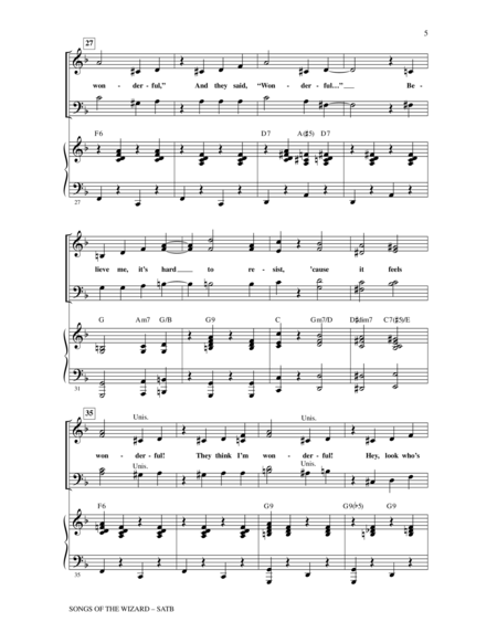 Songs of the Wizard (from Wicked)