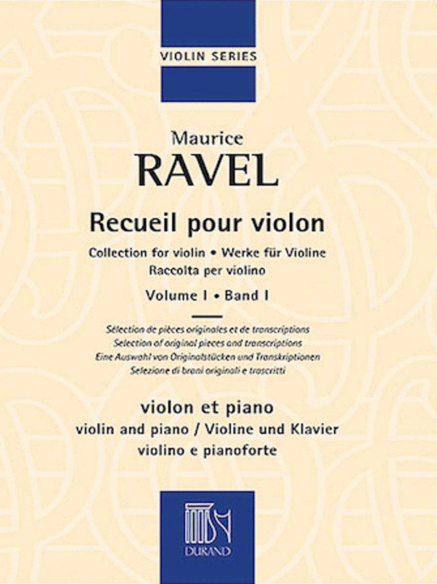 Collection for Violin and Piano, Vol. 1
