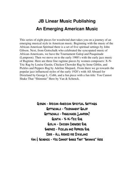 An Emerging American Music for flute and clarinet duet