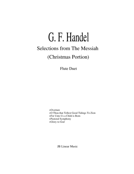 Handel's Messiah Selections for Flute Duet