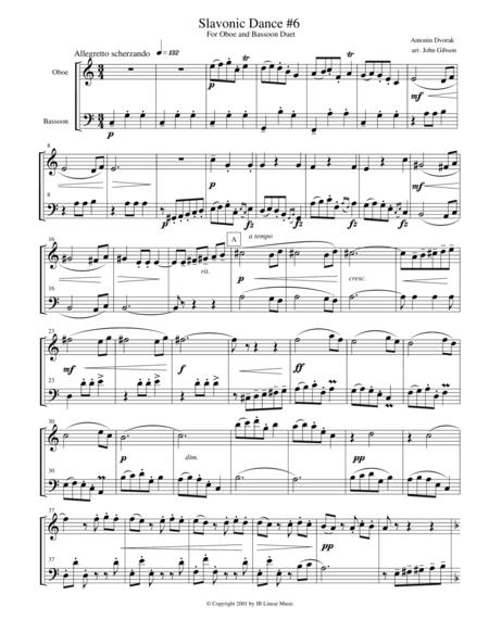 Dvorak Slavonic Dance #6 for oboe and bassoon duet