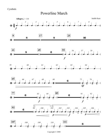 Powerline March - Percussion Parts
