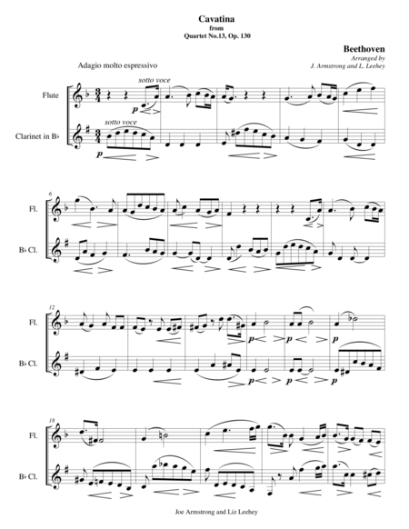 Cavatina from No.13, Op. 130