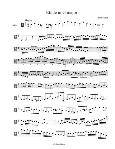 Viola Etude in G Major