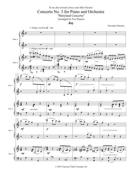 Concerto No. 3 (Maryland Concerto) for Piano and Orchestra