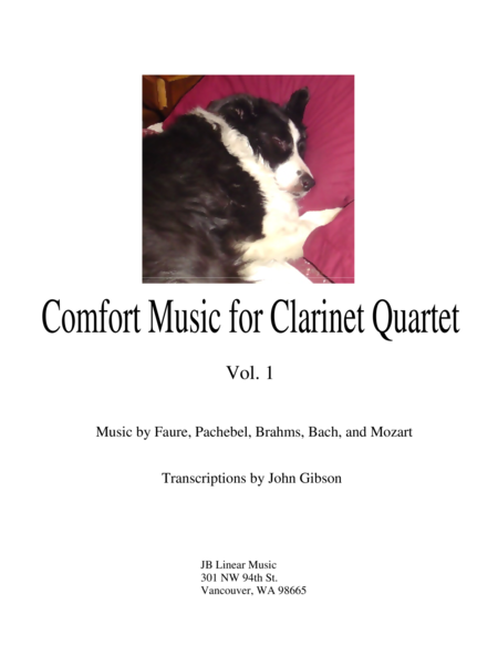 Comfort Music for Clarinet Quartet
