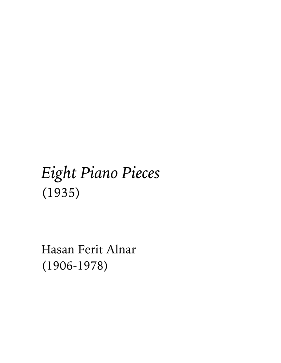 Eight Piano Pieces (1935)