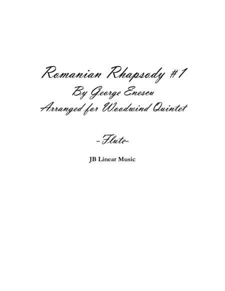Enescu - Romanian Rhapsody #1 for Woodwind Quintet