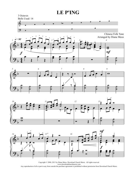 LE P'ING (Handbells or Handchimes anthem - 3 octaves)