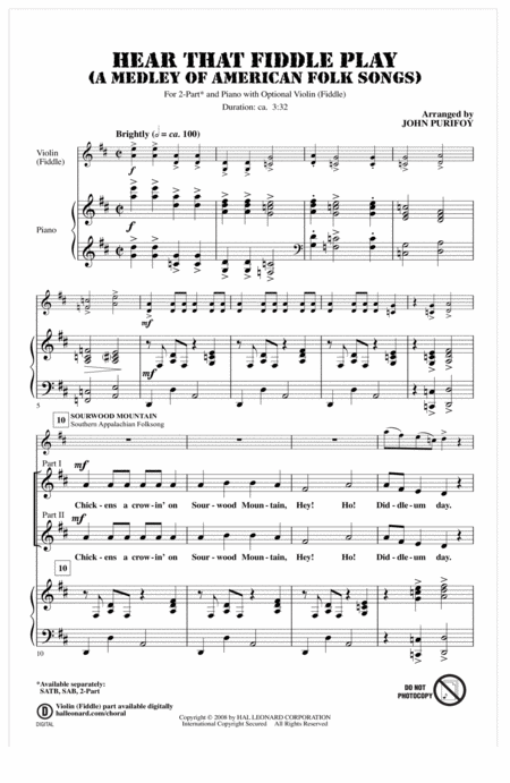 Hear That Fiddle Play (A Medley of American Folk Songs)